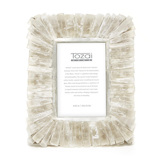 selenite gypsum crystal picture frame