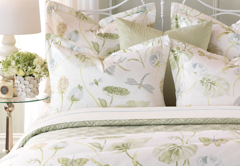 Aubergine Home Collection Kiawah Island South Carolina luxury bedding collection