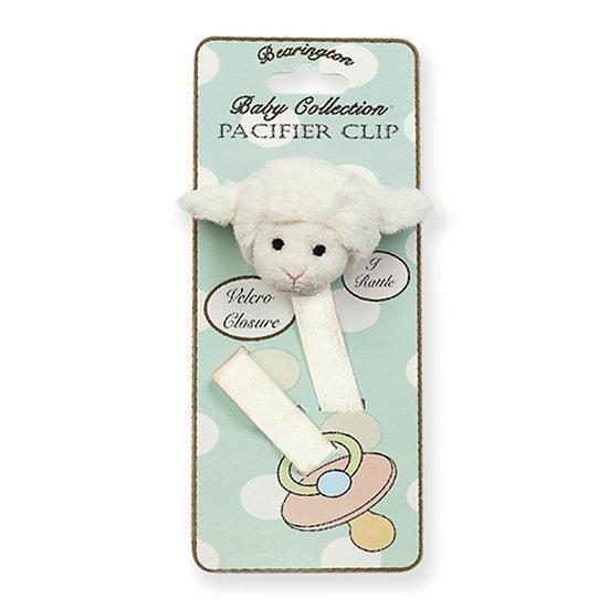 Lamby Pacifier Clip