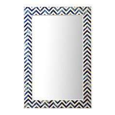 Indigo Chevron Wall Mirror