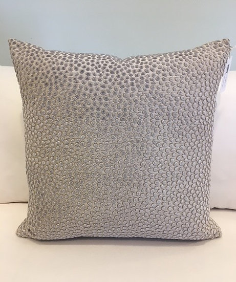Lilac Dots Cut Velvet Throw Pillow