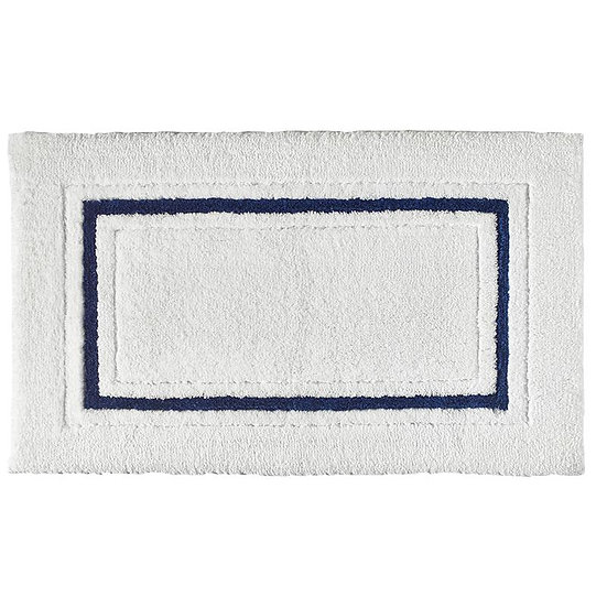 Framed Stripe Luxury Bathroom Rug