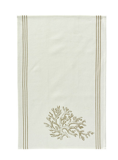 Coral Print Dish Towel (Set of 2)