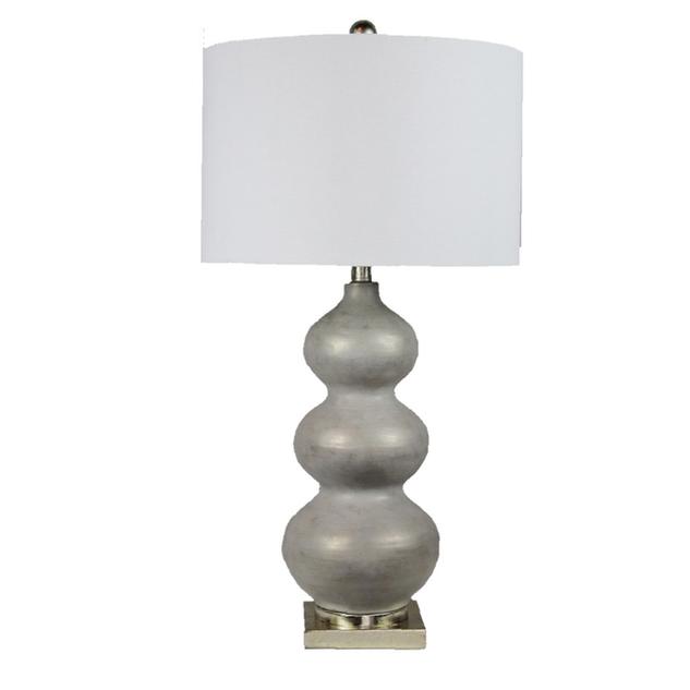 Alex Triple Gourd Antique Silver Lamp