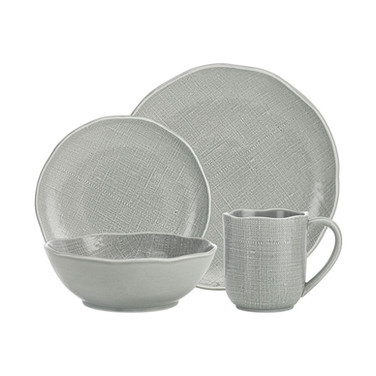 Tela 16pc Aqua Dinnerware Set