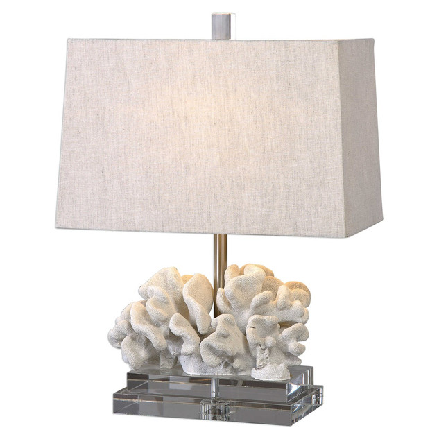 White Coral Rectangle Table Lamp