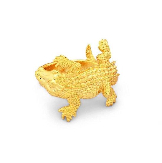 Gold Alligator Napkin Rings