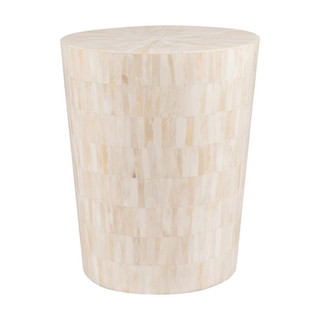 Natural White Bone Inlay Side Table