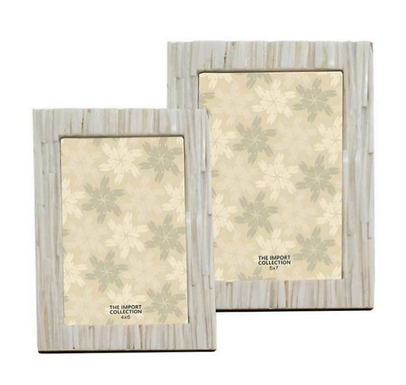 Willowbark ivory carved bone picture frames in 4x6 and 5x7
