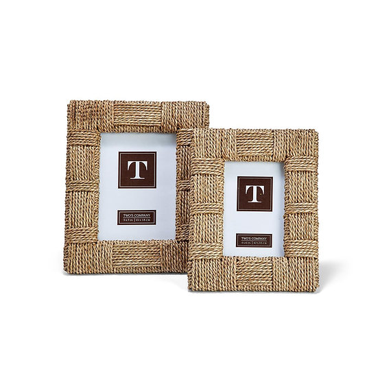 Seagrass rope picture frames
