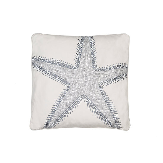 St. Bart starfish embroidered throw pillow