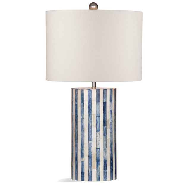 Blue & White Bone Inlay Table Lamp