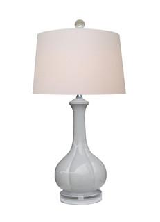 Lotus Gray Ceramic Table Lamp