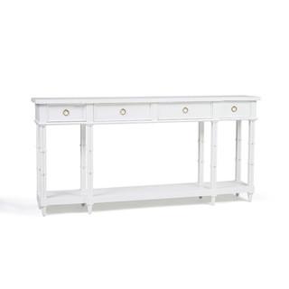 Farringdon White Bamboo Console Table