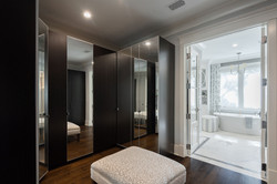 Large, master bedroom walk-in closet with plenty of storage space