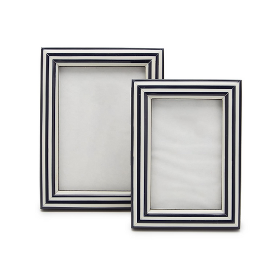 Blue and White Nautical Picture Frame