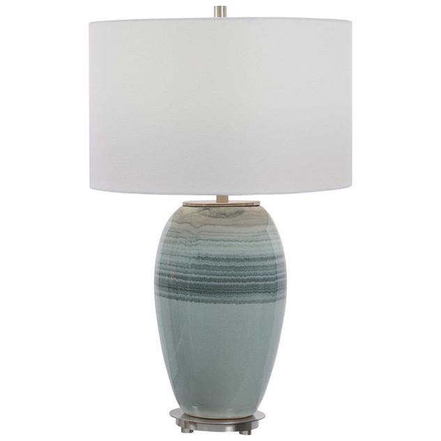 Caicos Aqua Ceramic Table Lamp