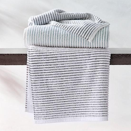 Aubergine Home Collection bathroom decor store Sullivan textured bath towels collection by Kassatex