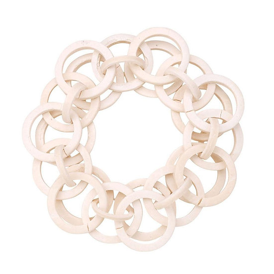 Coconut Shell Loops napkin ring in an off white finish