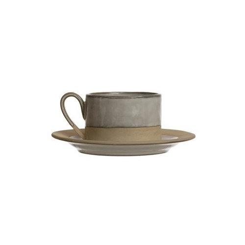 Stoneware Ceramic Mug & Saucer Set