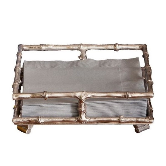 Silver Bamboo Napkin Holder