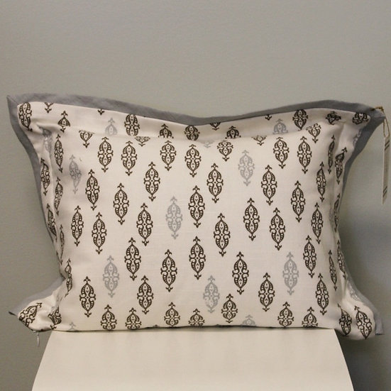 Geometric printed throw pillow in the pattern Boteh Brindle
