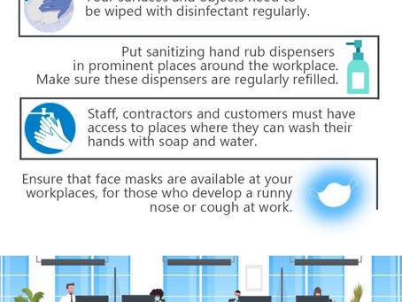 Simple ways to prevent the spread of SARS-CoV-2 in the Workplace