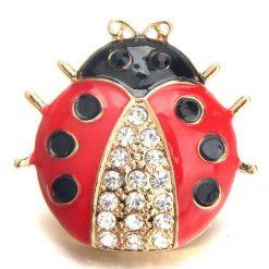 fashion-jewelry-18mm-Beetle-enamel-snap-