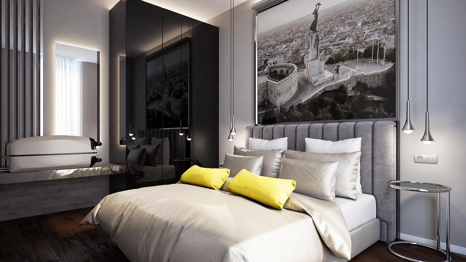 Gellért Residence airbnb hálószoba