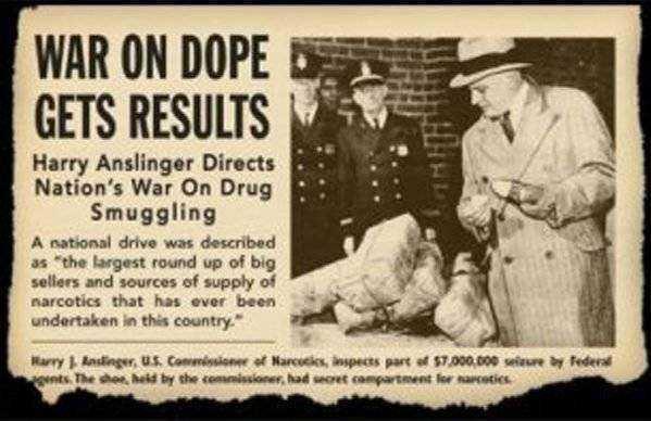 Harry Anslinger War on Drugs Newspaper Article