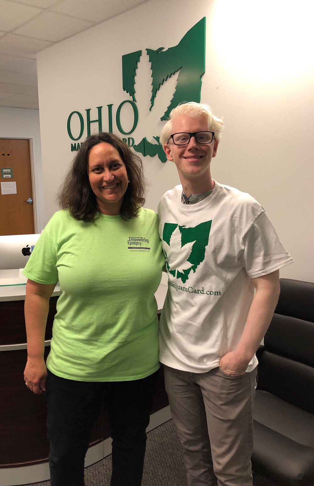 Ohio Marijuana Card President and Empowering Epilepsy Founder Pose for Picture