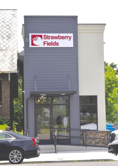 Exterior of Strawberry Fields Logan Dispensary