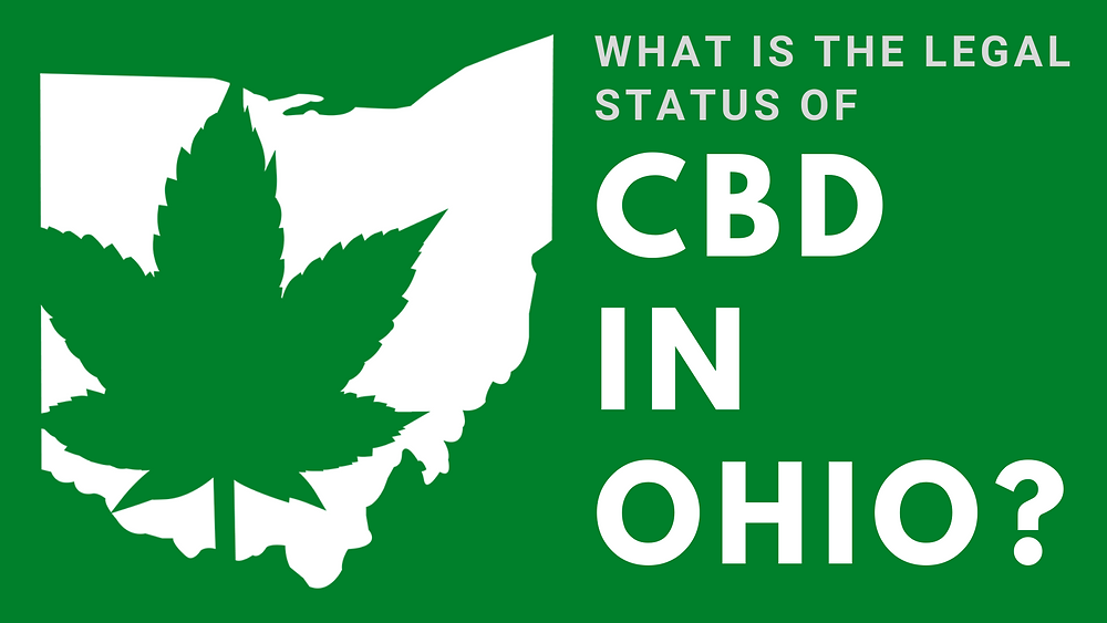 """Graphic with the Text, """"What is the Legal Status of CBD in Ohio"""""""