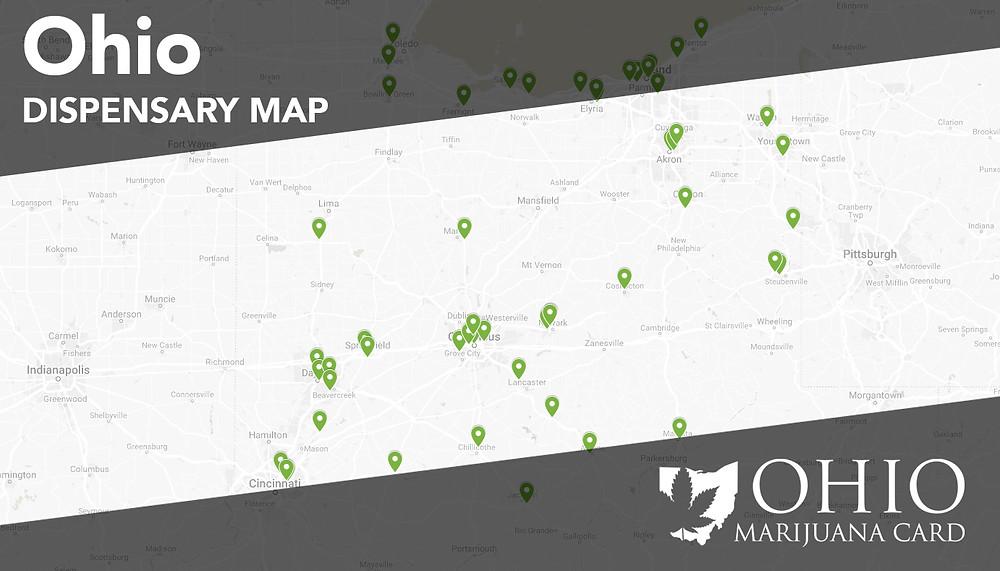 Ohio Dispensary Map