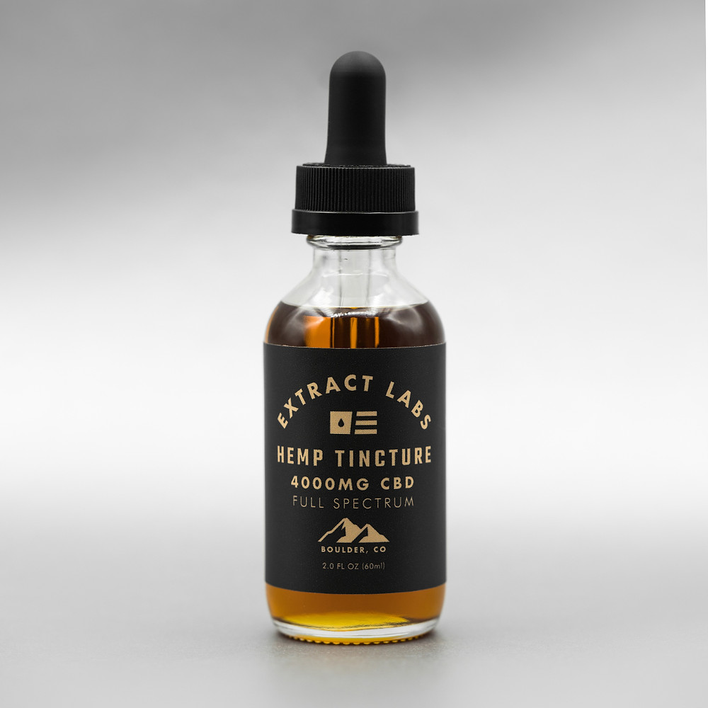 Bottle of Extract Labs 4,000 mg CBD Tincture