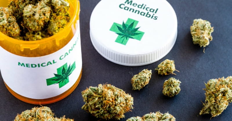 Medical Cannabis in a Pill Jar