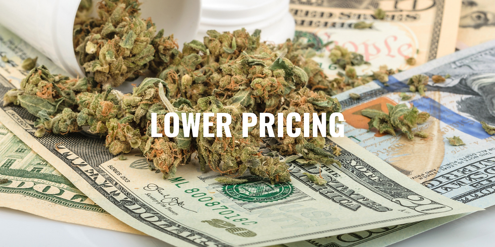 Medical Marijuana - Lower Pricing - Stock Image