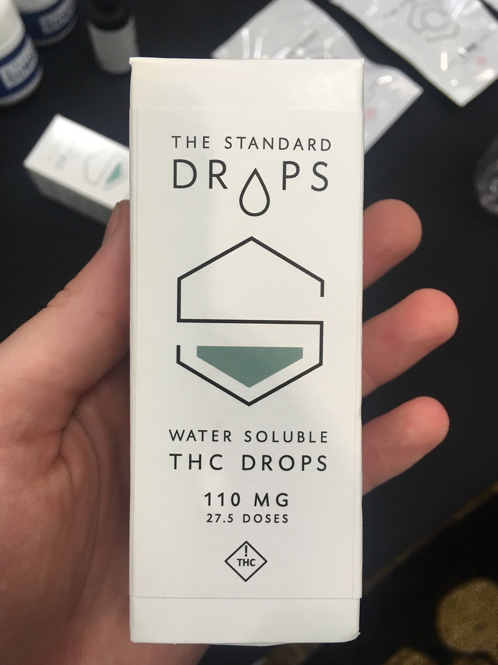 "Packaging for Standard Wellness' ""The Standard"" Water-Soluble Drops"
