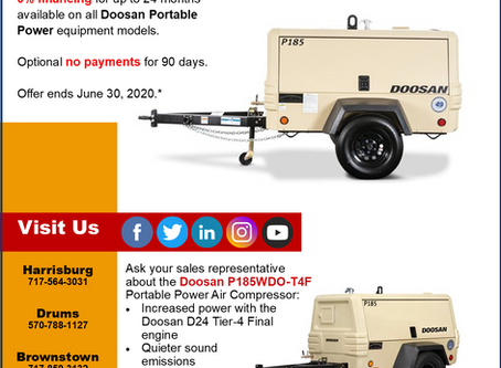 Get More Air Power with Doosan 0% Financing