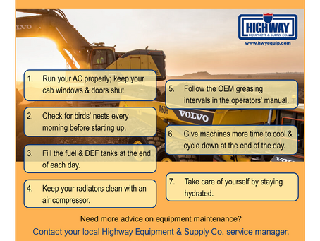 Infographic: 7 Sizzling Summer Heat Tips for Your Construction Equipment