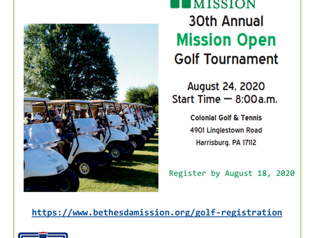 Register by August 18 to Golf with a Mission