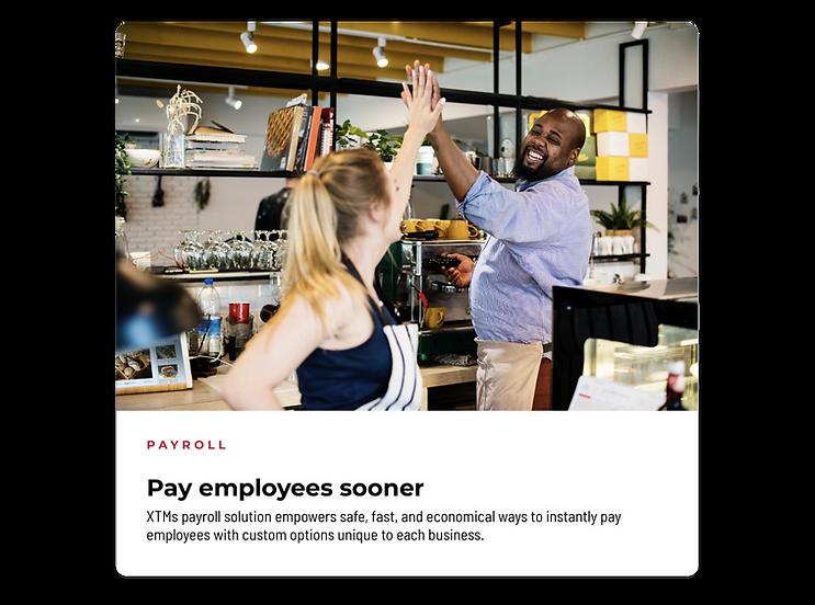 Payroll - Pay employees sooner