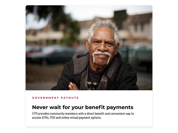 Government Payouts - Cashless Benefit Payments