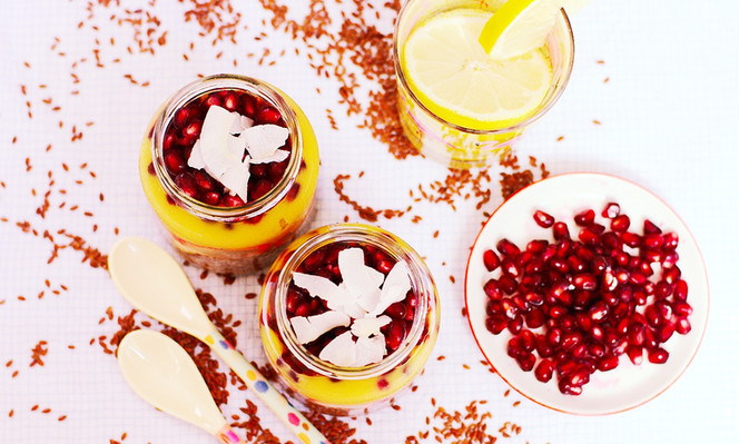 Quick And Healthy: Flax Pudding With Mango And Coconut