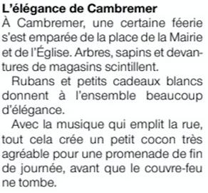 Décorations de Cambremer - Ouest France