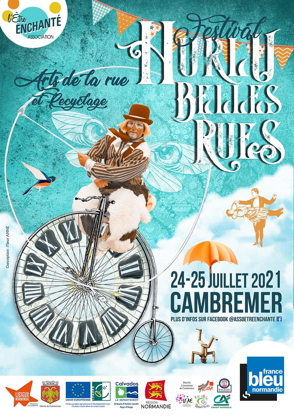 24 - 25 juillet 2021 : Festival Hurlu Belles Rues à Cambremer