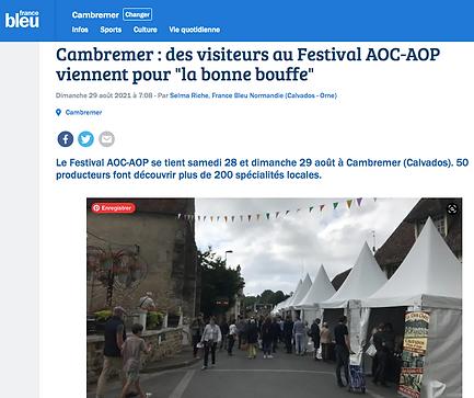 Festival des AOC-AOP de Cambremer