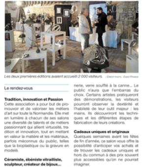 3° Salon des Métiers d'Art à St Pierre sur Dives : le bilan