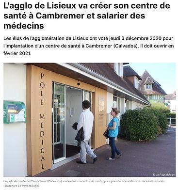 Centre de Santé - Le Pays d'Auge - 2020-