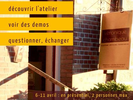 6>11 avril - JEMA : portes ouvertes à l'atelier